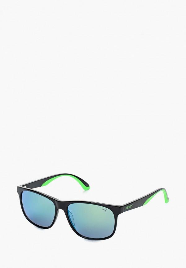 Купить Очки солнцезащитные PUMA, PU0106S005, PU053DMQYO17, черный, Весна-лето 2018