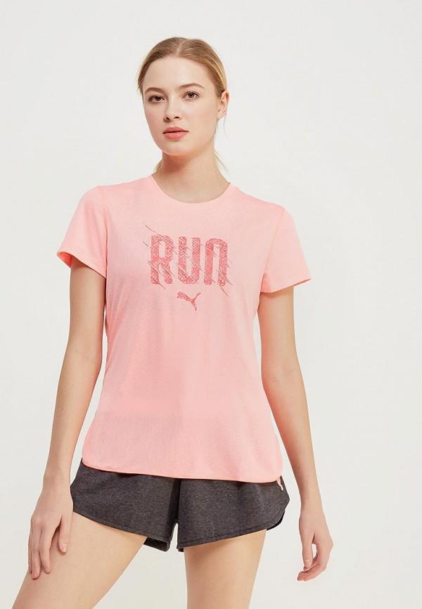 Купить Футболка спортивная PUMA, Run S/S Tee W, PU053EWAMUQ3, розовый, Весна-лето 2018