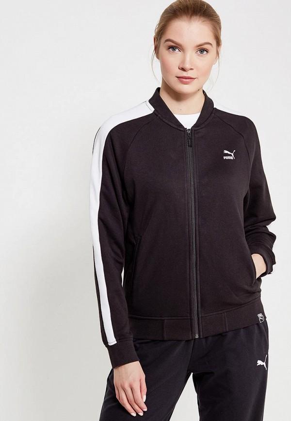 Купить Олимпийка PUMA, Classics Logo T7 Track Jaket, PU053EWAMVA1, черный, Весна-лето 2018