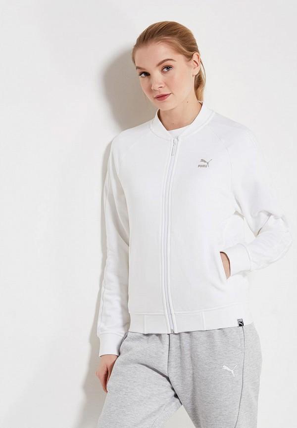 Купить Олимпийка PUMA, Classics Logo T7 Track Jaket, PU053EWAMVA2, белый, Весна-лето 2018
