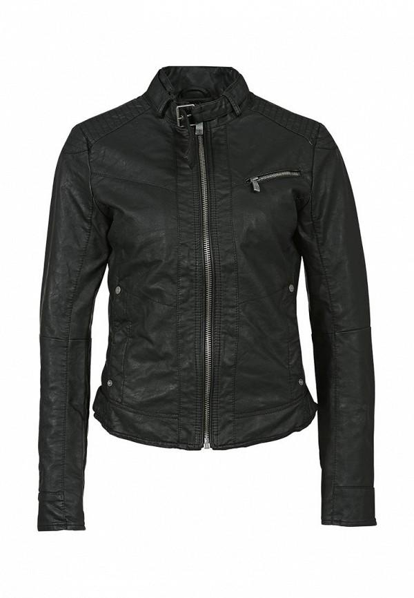 Куртка кожаная QS by s.Oliver QS002EWAGD64. Цвет: черный