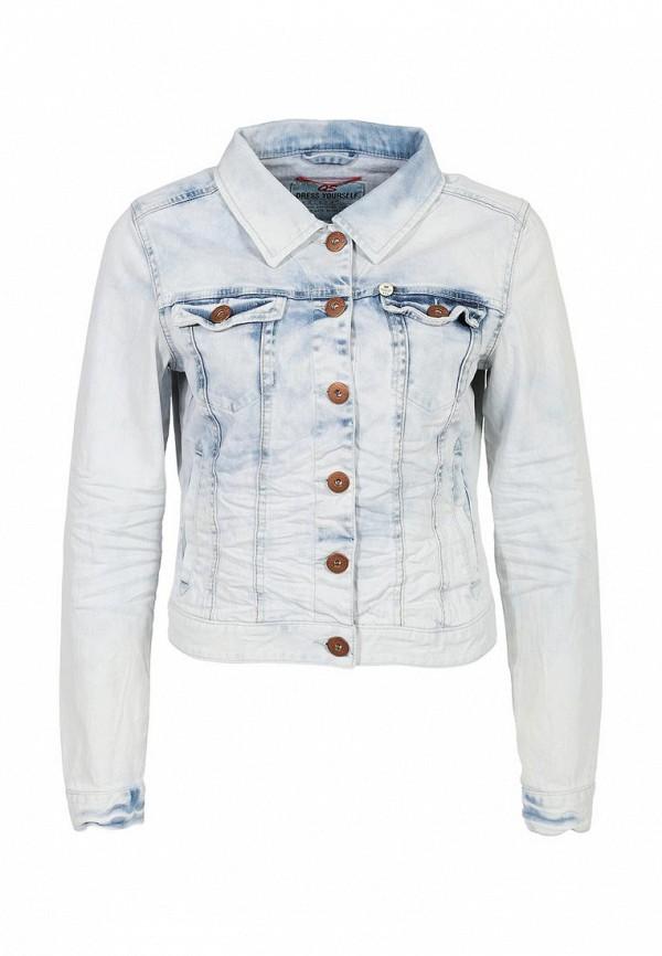 Куртка джинсовая QS by s.Oliver QS002EWAGD75. Цвет: голубой