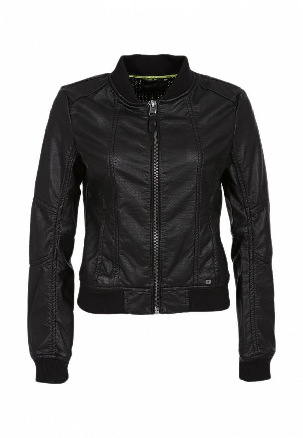 Куртка кожаная QS by s.Oliver QS002EWBNX93. Цвет: черный