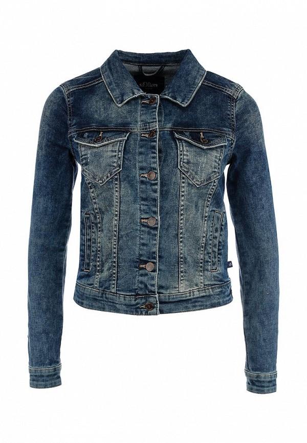 Куртка джинсовая s.Oliver Denim. Цвет: синий