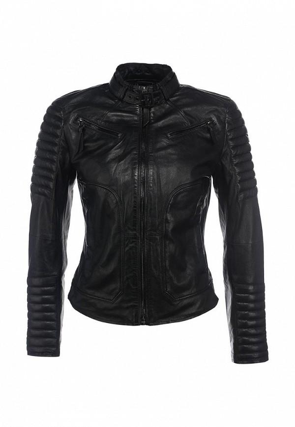 Куртка кожаная s.Oliver Denim. Цвет: черный