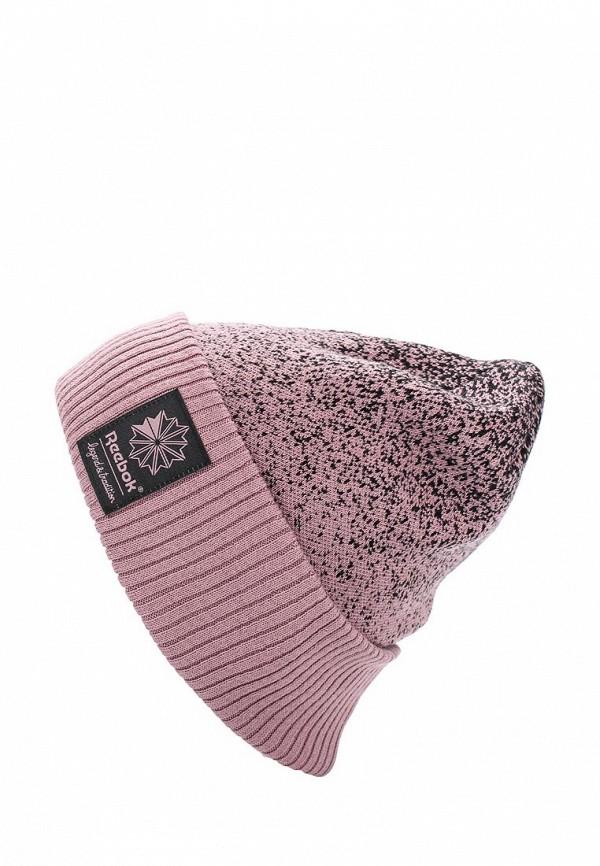Шапка Reebok Classics. Цвет: розовый