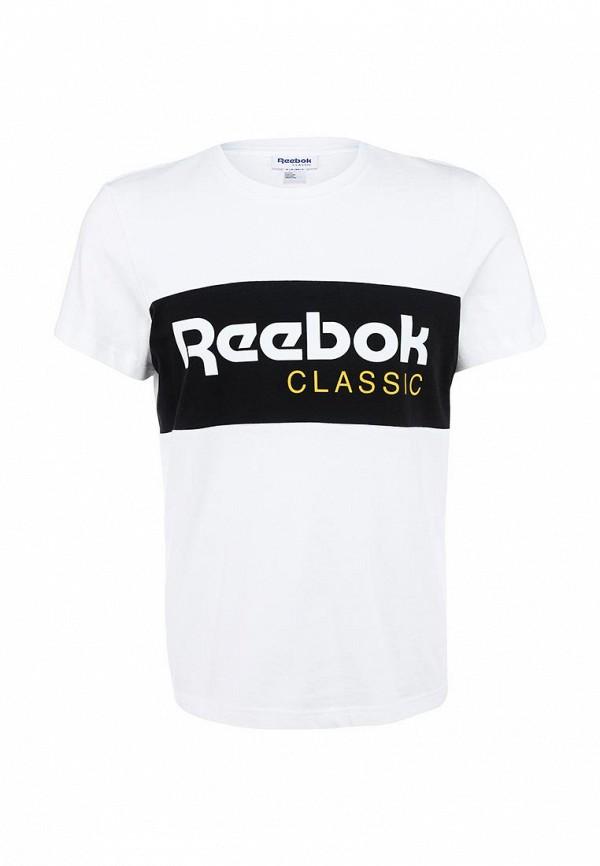 Футболка с надписями Reebok Classics AA8756