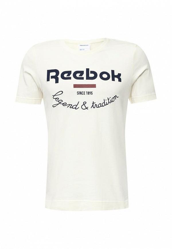Футболка с надписями Reebok Classics AY1201