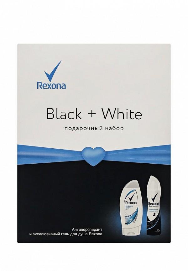 Набор Rexona Black  White дезодорант Невидимая защита 150 мл, гель для душа Свежесть и забота 250 мл