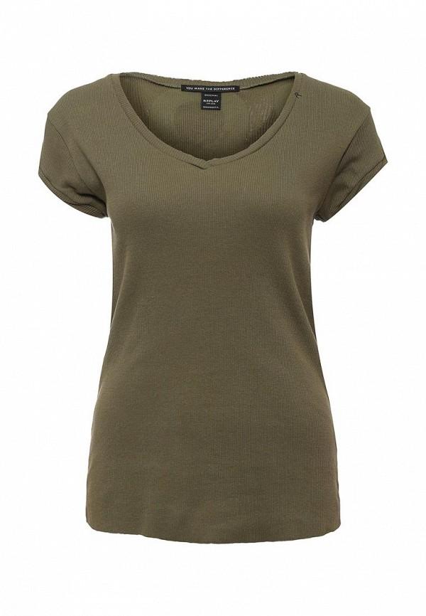 Женская зеленая футболка