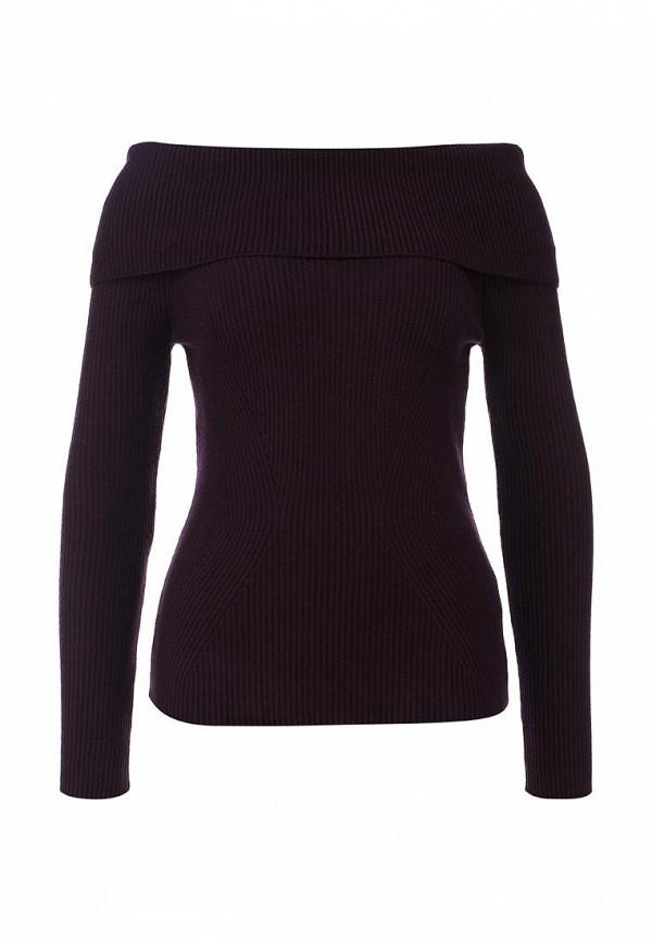 Женский бордовый осенний свитер