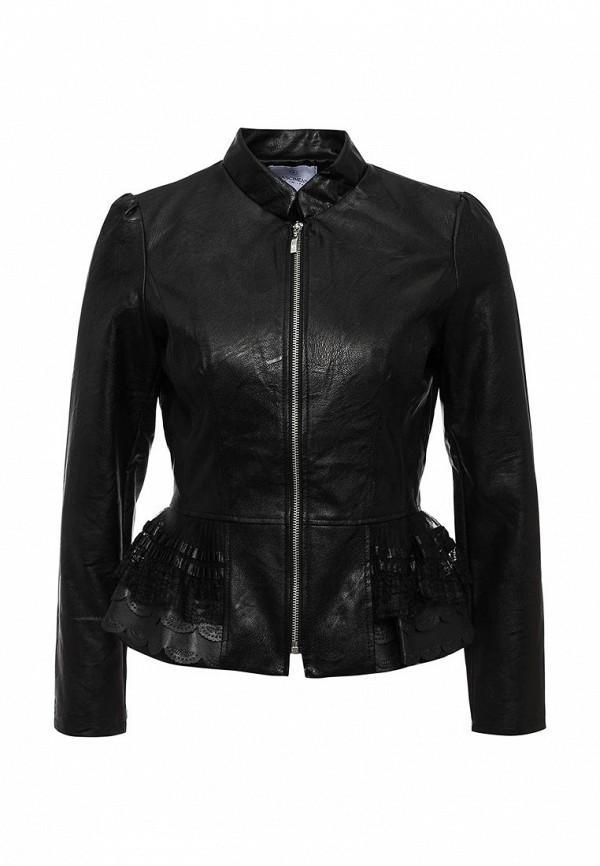 Купить Куртку кожаная Rinascimento черного цвета