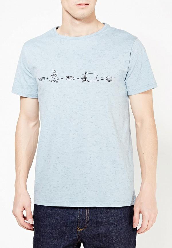 Фото 3 - мужскую футболку Rip Curl голубого цвета