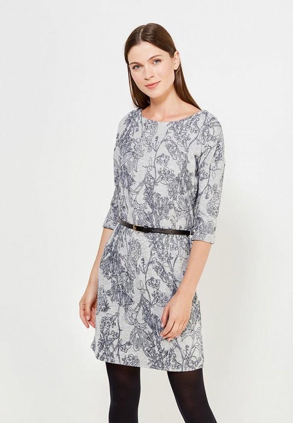 Фото - женское вязаное платье Savage серого цвета