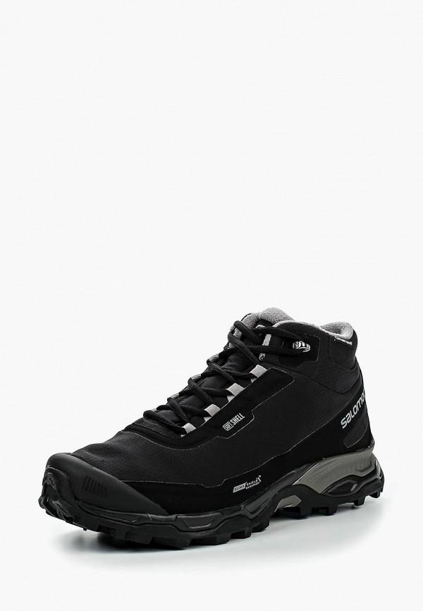 Купить Ботинки Salomon, SHELTER SPIKES CS WP, SA007AMJJK88, черный, Осень-зима 2017/2018
