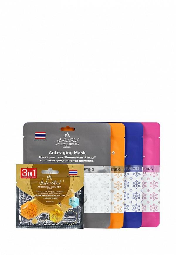 Набор Sabai Thai Authentic SPA Sabai Thai Authentic SPA SA050LMANHS6 тканевые маски и патчи sabai thai authentic spa набор масок 2 в 1 sabai thai authentic spa sbm 002 с экстрактом мангостина 2 шт 40