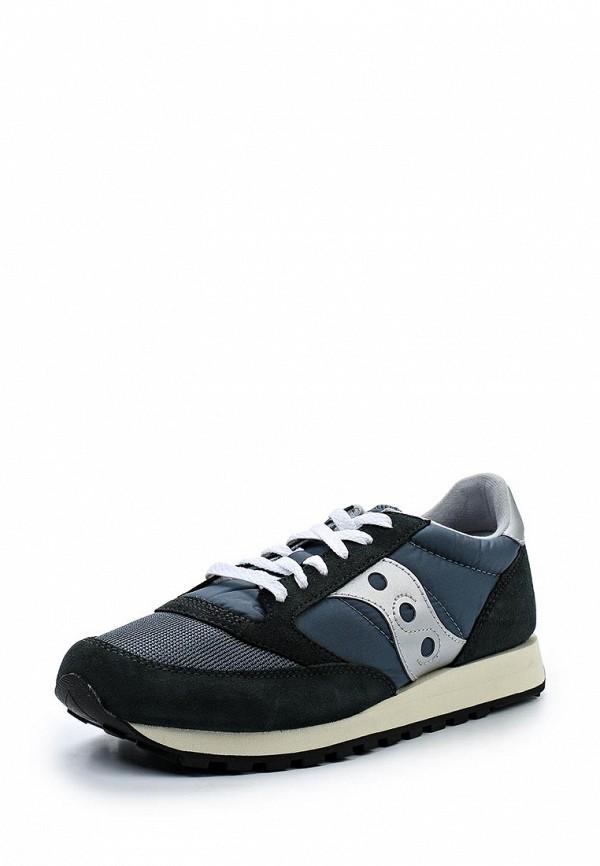 Фото - мужские кроссовки Saucony синего цвета