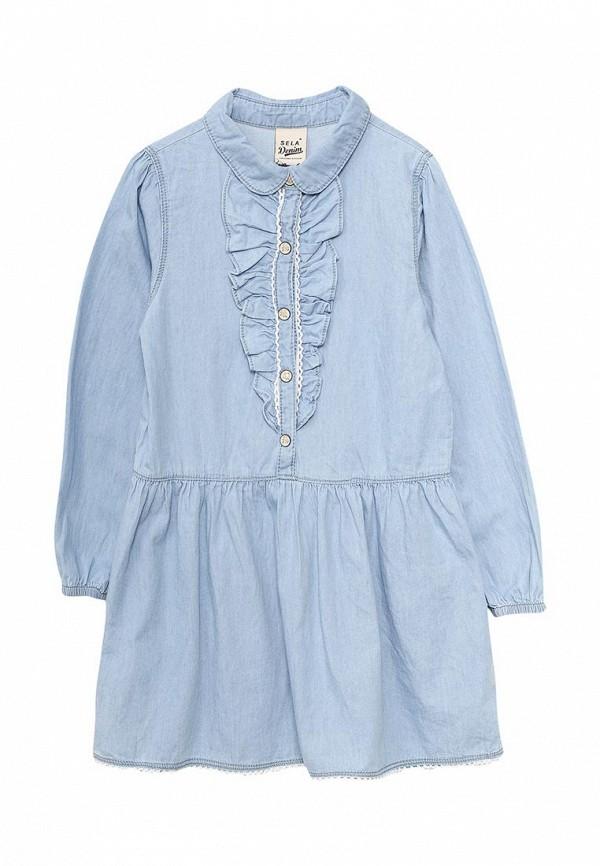 Платье джинсовое Sela Dj-537/012-7122
