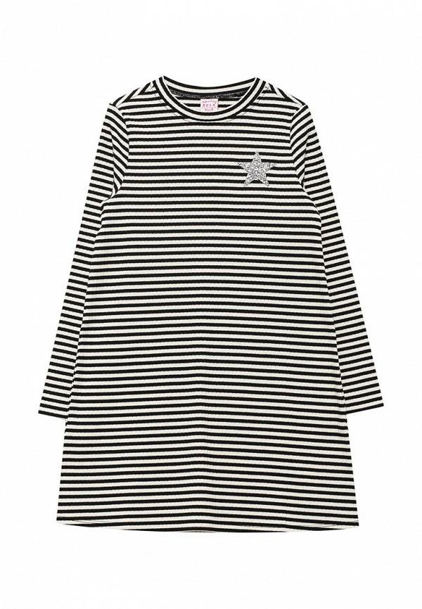 Платье Sela. Цвет: черно-белый