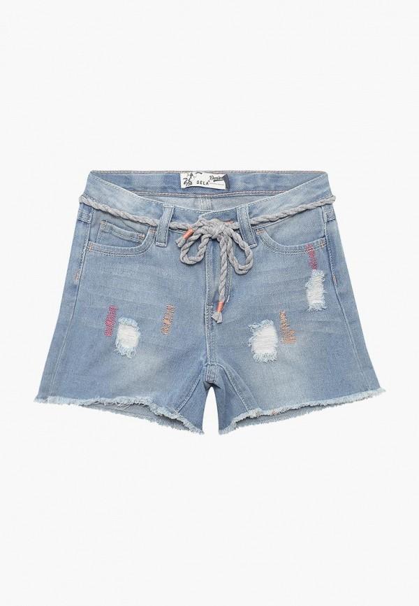 Шорты джинсовые Sela Sela SE001EGZMV26 брюки sela брюки
