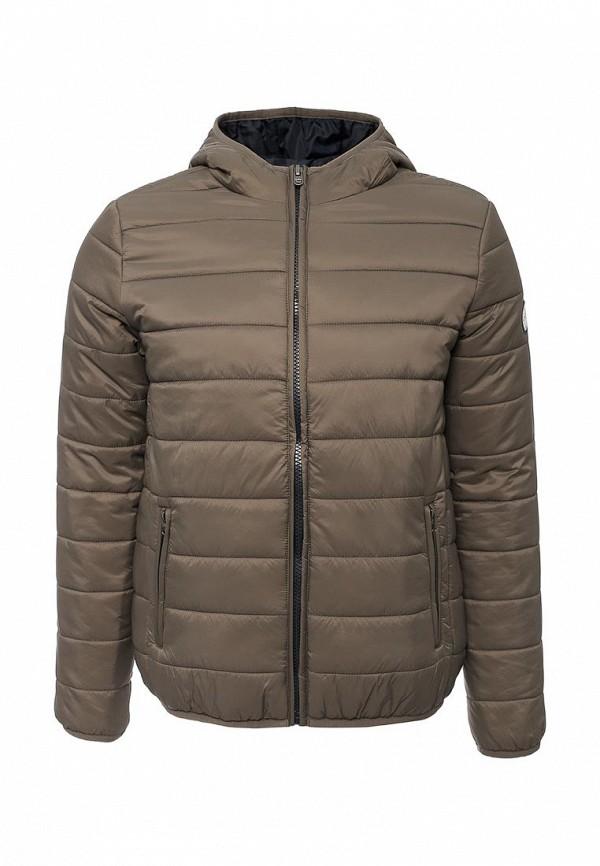 Мужская серая утепленная осенняя куртка