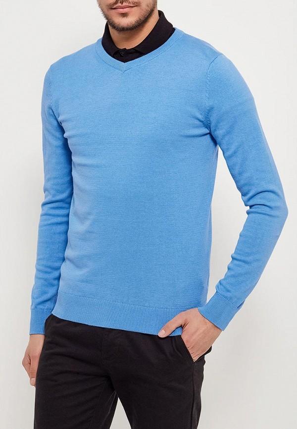 Пуловер  голубой цвета