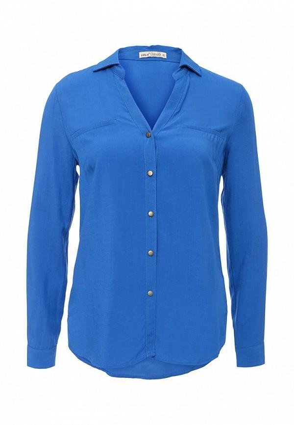Синяя блузка SELA