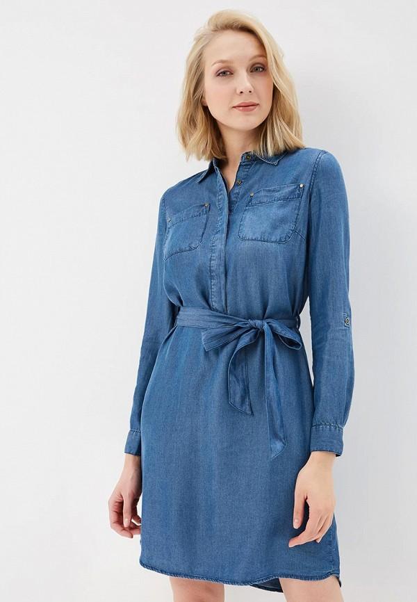Платье джинсовое Sela Sela SE001EWZNC51 платье джинсовое sela sela se001ewznc54