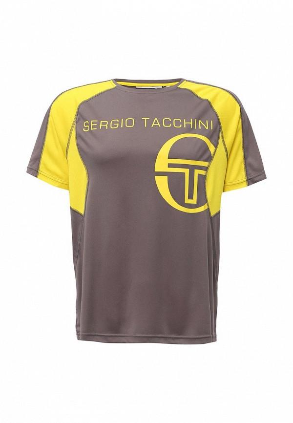 Футболка с коротким рукавом SERGIO TACCHINI TTG01739-GRE_SHARK-BLAZING-YELLOW