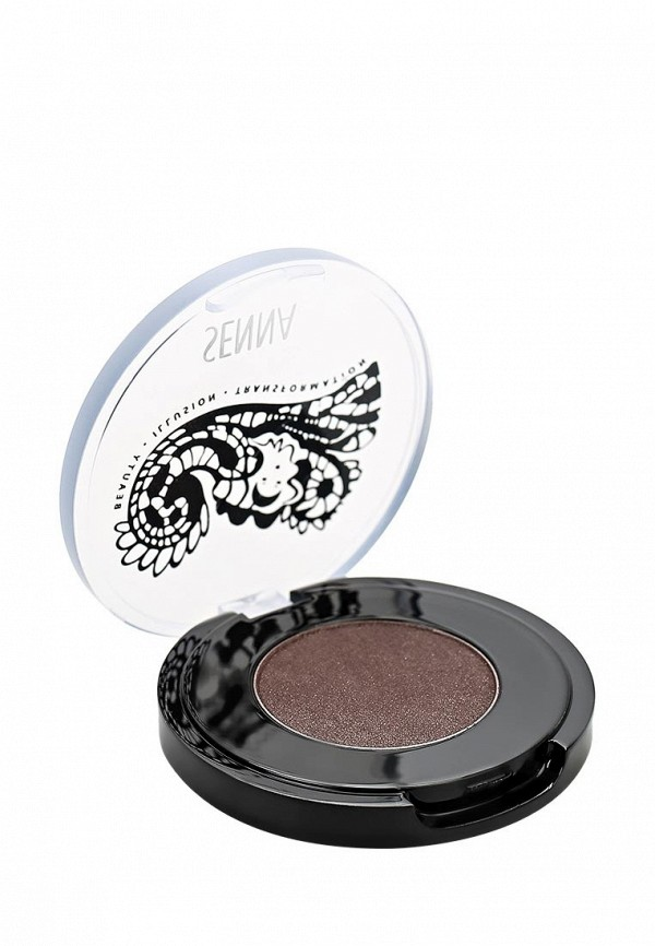Тени Senna Eye Color Glow Powder Eyeshadow для век с шиммером, тон Black Sands