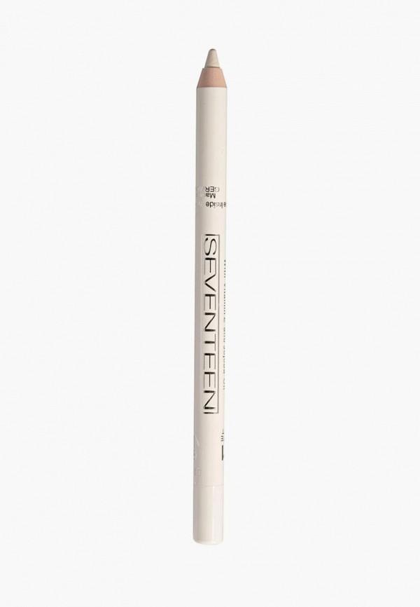Купить Карандаш для глаз Seventeen, водостойкий т.51 Super Smooth W/P&Longstay Матовый белый, SE039LWUWY44, Весна-лето 2018