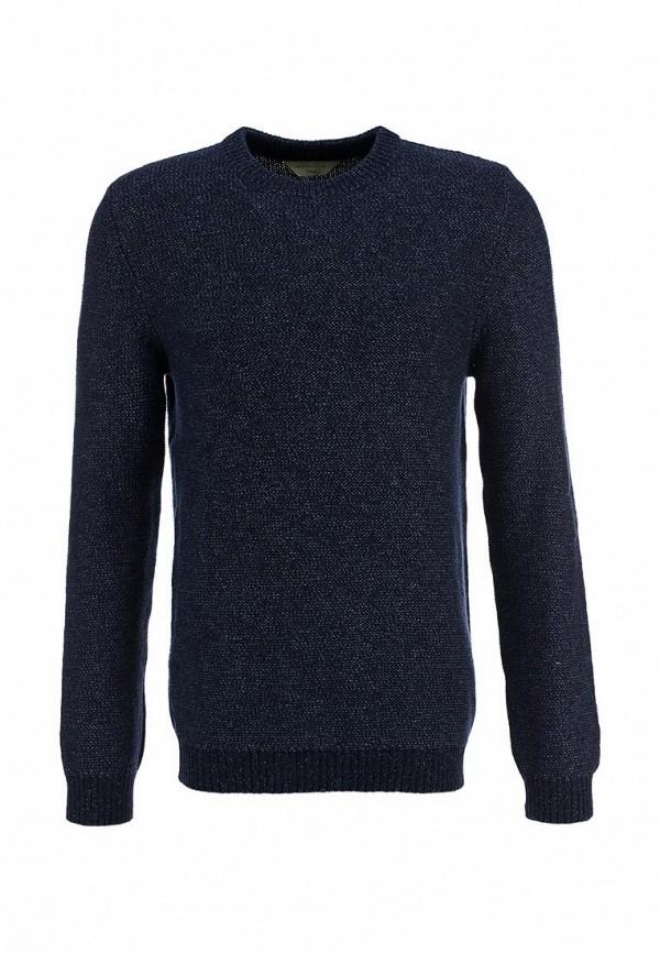 Синий пуловер мужской
