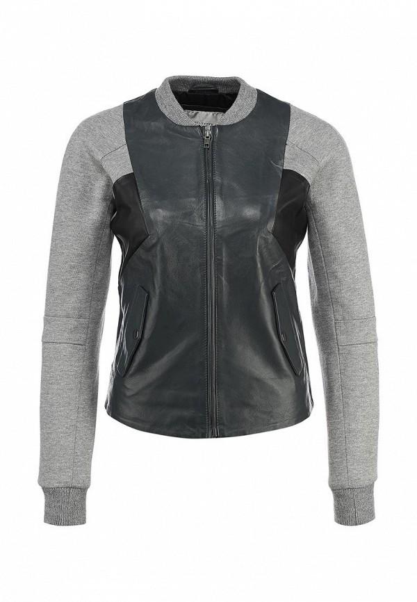 Куртка кожаная Selected Femme SE781EWBYX72. Цвет: серый