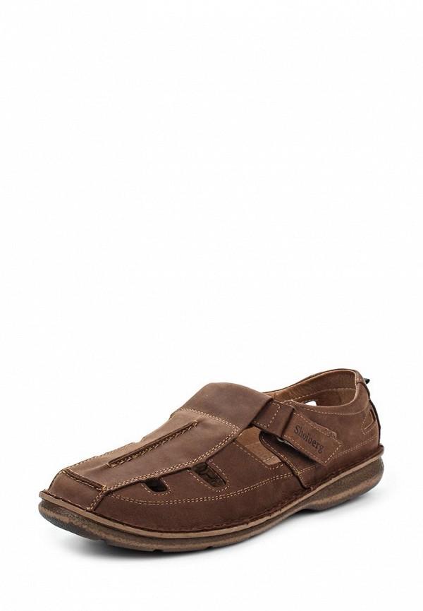 Мужские коричневые туфли Shoiberg