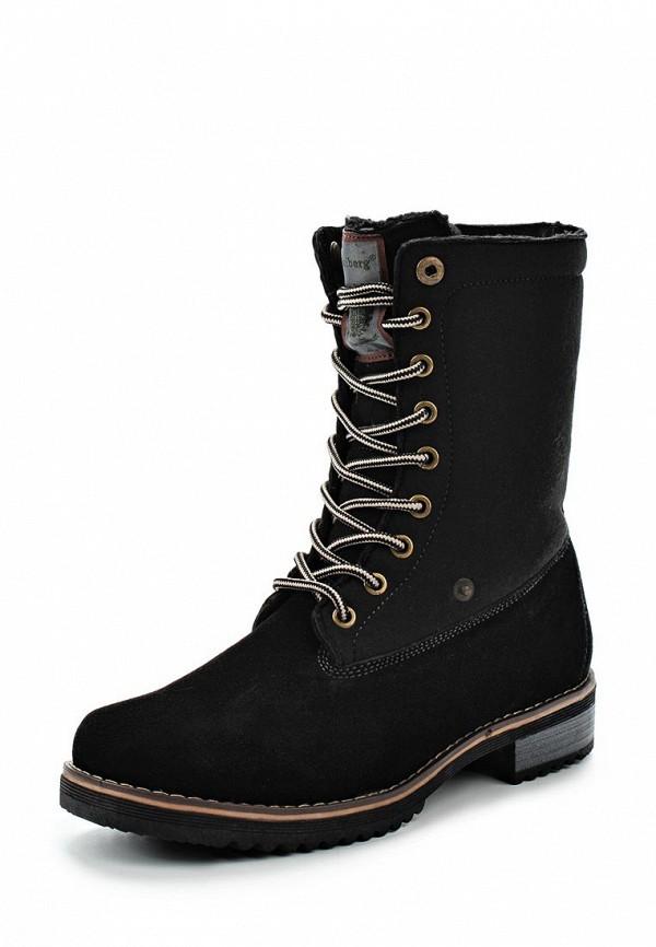 Женские черные осенние ботинки из войлока