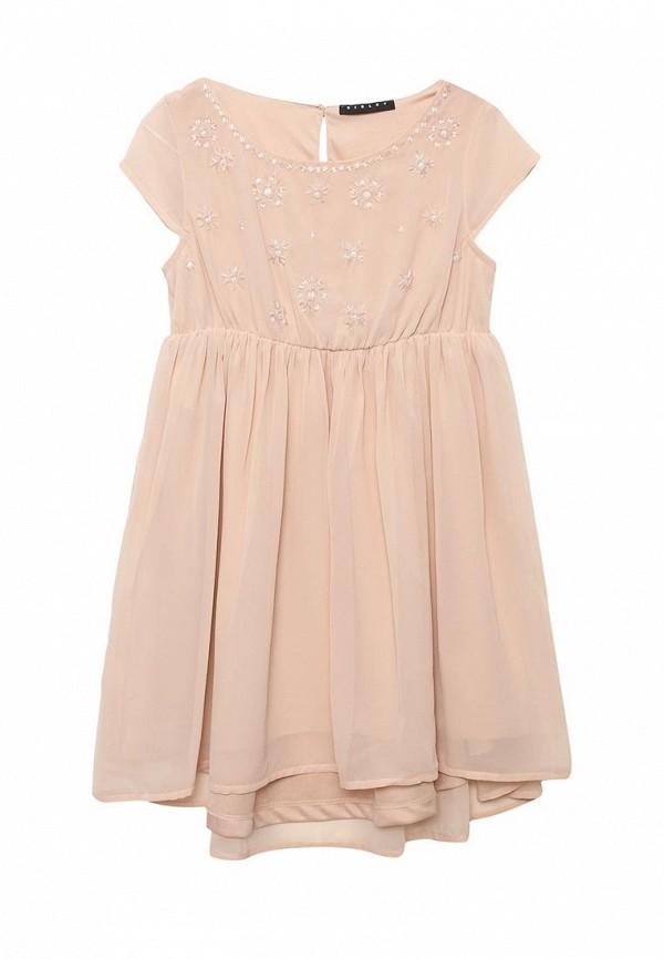 Купить Платье Sisley, SI007EGACFT7, бежевый, Весна-лето 2018