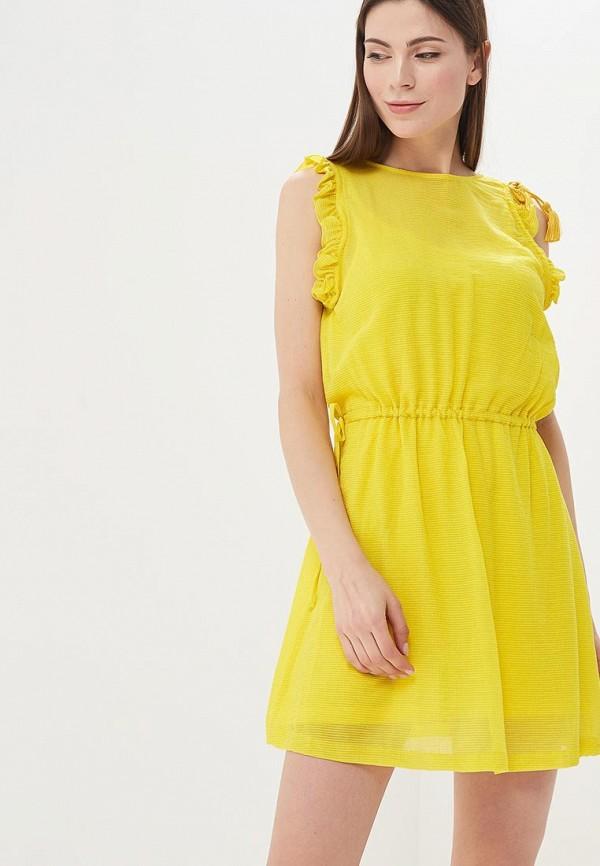 Купить Платье Sisley, SI007EWARTQ1, желтый, Весна-лето 2018