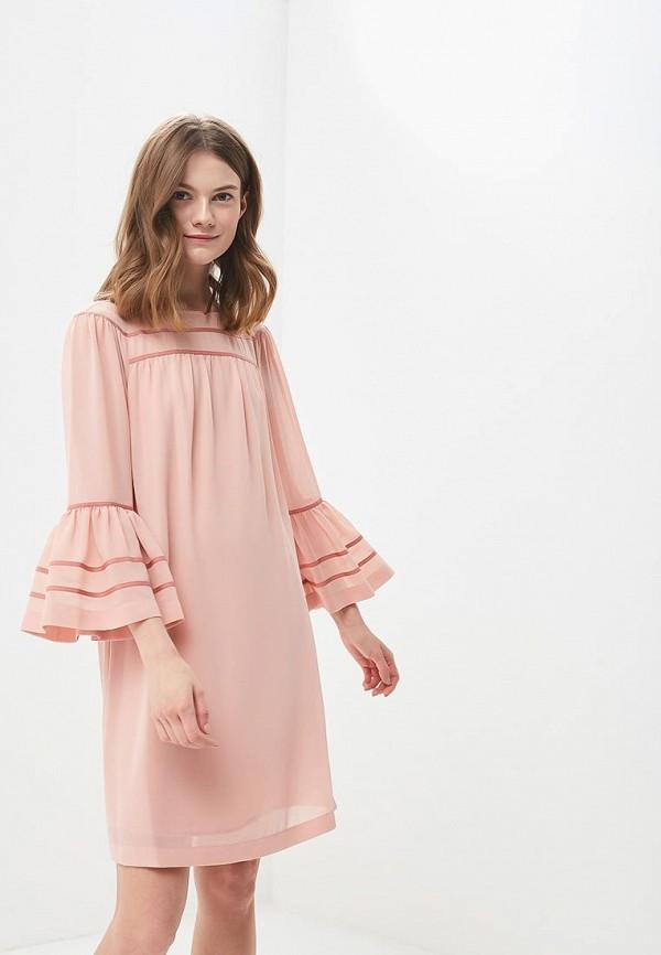 Купить Платье Sisley, SI007EWARTR0, коралловый, Весна-лето 2018