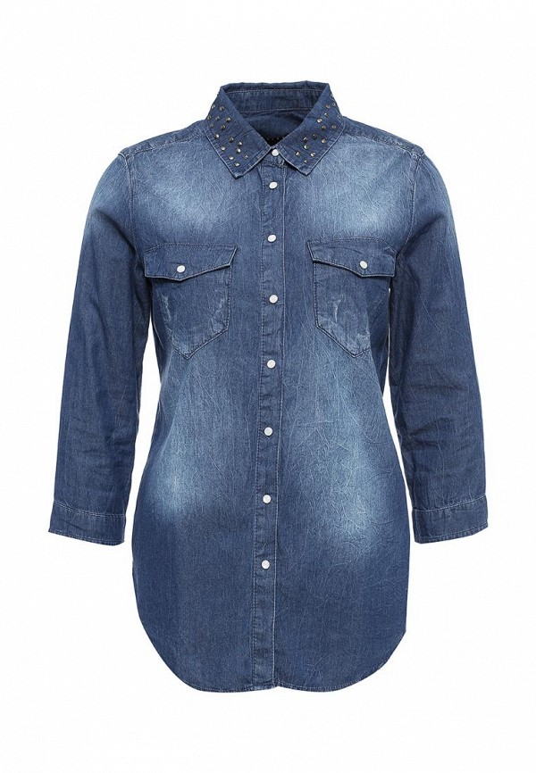 Рубашка джинсовая Sisley Sisley SI007EWPIQ88 куртка джинсовая sisley sisley si007egsic26