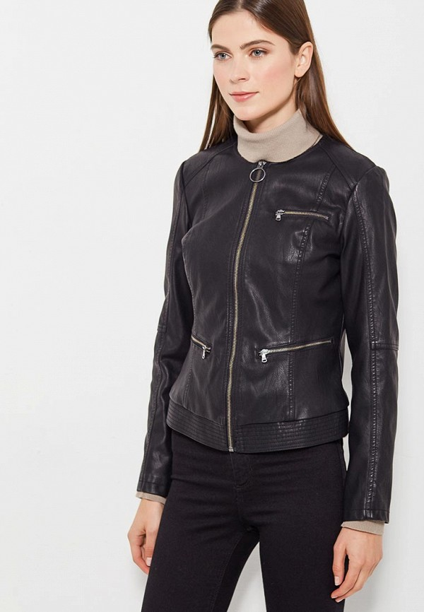 Куртка кожаная Sisley Sisley SI007EWWLT61 лонгслив sisley sisley si007ewwlr61