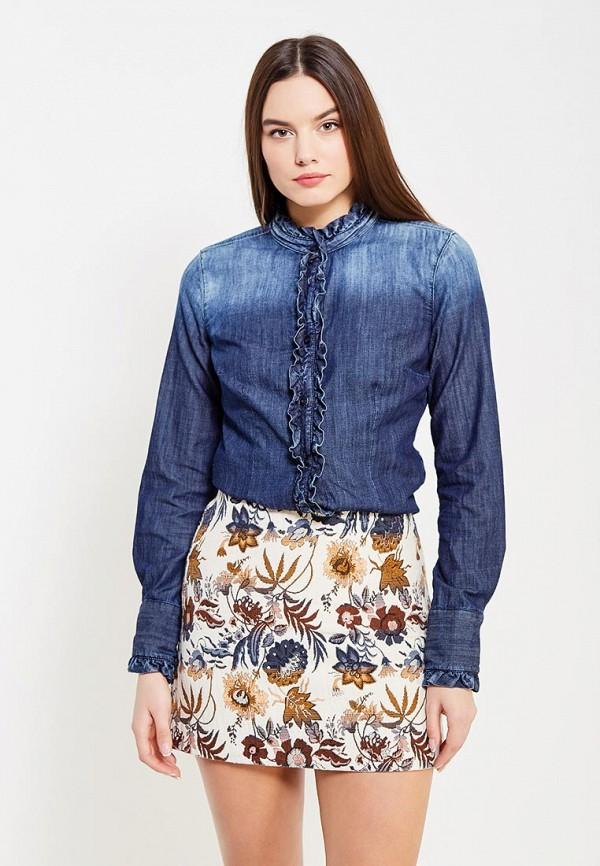 Рубашка джинсовая Sisley Sisley SI007EWXOB98 лонгслив sisley sisley si007egwll55