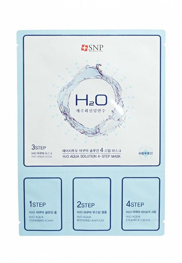 Купить Маска для лица SNP, SNP H2O AQUA SOLUTION 4-х ступенчатая увлажняющая маска для лица, 31г, SN005LWAUOI2, прозрачный, Весна-лето 2018