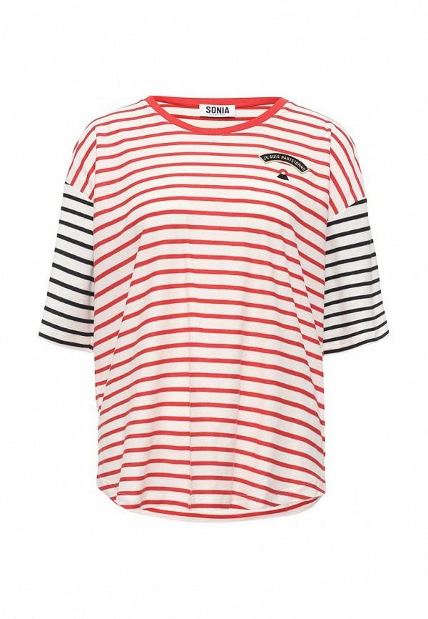Купить женскую футболку Sonia by Sonia Rykiel разноцветного цвета