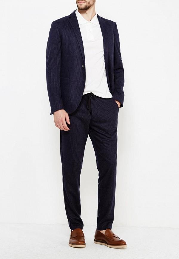 Фото 2 - мужской пиджак s.Oliver Black Label синего цвета