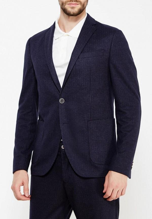 Фото 3 - мужской пиджак s.Oliver Black Label синего цвета