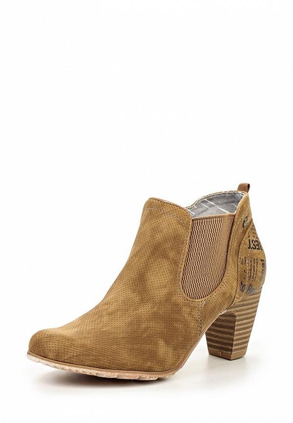 Женские коричневые осенние ботильоны на каблуке