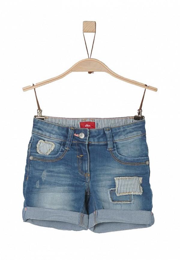 Шорты джинсовые s.Oliver. Цвет: синий