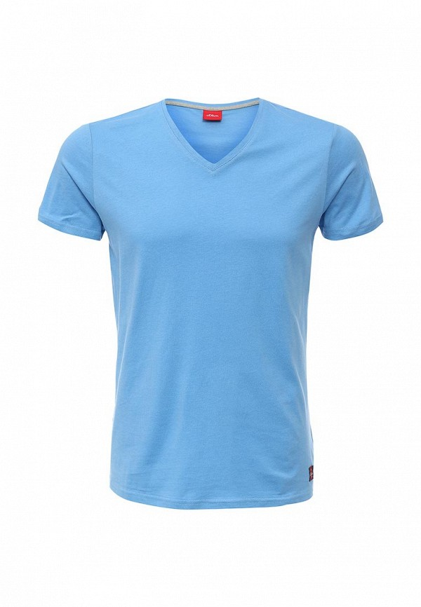 Мужская голубая футболка S.OLIVER