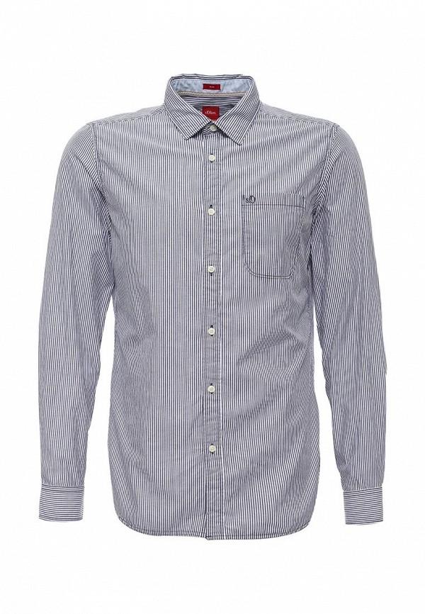Купить мужскую рубашку s.Oliver серого цвета