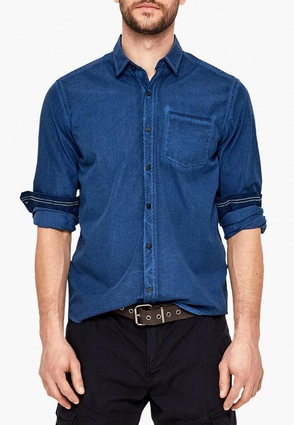 Рубашка джинсовая s.Oliver цвет синий сезон весна, лето, мульти страна Индонезия размер 46, 48, 50, 52, 54, 56